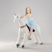 UFREE Action Pony, Large Mechanical Horse Toy, Ride on Bounce up and down and Move, Height 110cm for Children 4 to 15 Years Old