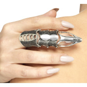 Smiffy's 45603 Gothic Finger Armour Set, Silver, One Size