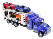Car Transporter With 4 Racing Cars Best Toy Gifts For Boys Kids Toddlers
