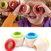 1Pc Children Wooden Magic Kaleidoscope Kids Baby Learning Puzzle Educational Toy Random Colour