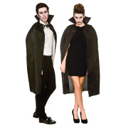 Unisex Vampire Cape with Collar 110cm Black Red