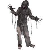 New Mens Halloween Burning Dead Zombie Fancy Dress Party Costume