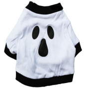 Moonuy Dog Clothes Christmas Cotton White Halloween Ghost Pet Shirt