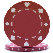 High Quality Red, 12g Suited Poker Chips