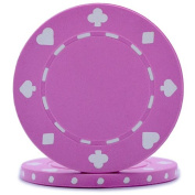 High Quality Pink, 12g Suited Poker Chips