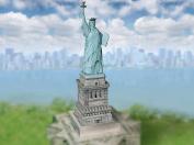 "Aue-Verlag 12 x 12 x 41 cm ""Statue of Liberty New York"" Model Kit"