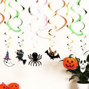 Faburo 12 pcs Hanging Swirl Halloween Party Creepy Creatures Swirl Ceiling Hanging Decoration