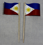 Philippines Flag Party Pickers Papierfähnchen in professional quality offset Selection Pack of 50 from the manufacturer's own production
