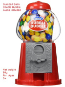Dubble Bubble Red Gumball Gum Vending Machine Bank Dispenser Vintage Style Sweet Bubblegum Kids Fun Toy Machine for .