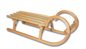Ress Mountain Sledge with Lattice Seating Natural Varnished