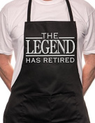 The Legend has Retired BBQ Cooking Funny Novelty Apron