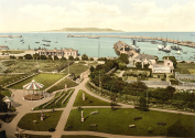 Kingstown. The Harbour II. Co. Dublin, Ireland, Large Old Photograph, Print, Picture,Photo