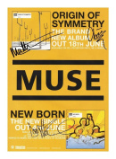 Muse Autographed Signed A4 21cm x 29.7cm Photo Poster