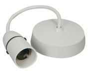 Bulk Hardware BH03026 Ceiling Rose Flex 23cm with Lamp Holder - White