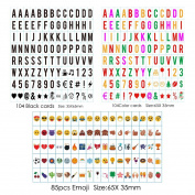 Sanyan 293 Black & colour Letters, Numbers, Emoji & Symbols for Use with A4 A3 A5Cinematic Light boxes, Plastic,
