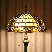 Tiffany 41cm Blooming Magnolia European Pastoral Style Elegant Luxury Creative Handmade Stained Glass Tiffany Floor Lamp