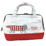 Risa Larson canvas place cold storage pouch lunch bag 368134 (KGAF1) lunch bag // Risa Larson / Mai key / cat