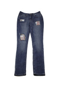 Earl Jeans Medium Wash Patched Skinny Jeans 4