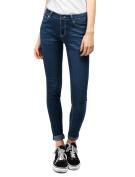 Unique Bargains Juniors Zip Fly Low Rise Pockets Skinny Jeans Pants Blue