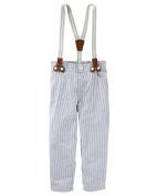 Oshkosh B'gosh Boy's Suspender Seersucker Striped Pants - 2T