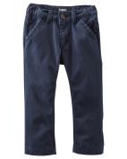 OshKosh B'gosh Boys' Classic Navy Twill Pants- Regular- 14 Kids