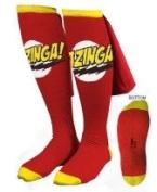 Big Bang Theory Bazinga Red Caped Socks