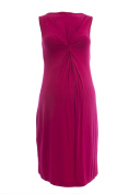 OLIAN Maternity Women's Front Twist Accent Boat Neck Dress X-Small Red