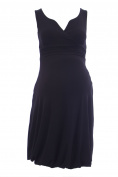 OLIAN Maternity Women's Bubble Hem Surplice Neck Dress X-Small Black