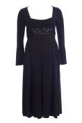 OLIAN Maternity Women's Jewelled Waist Bell Sleeve Dress X-Small Black