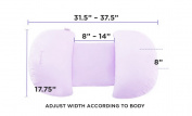Tummy Support Maternity Pillow - Purple