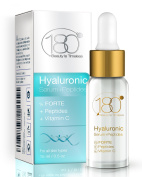 180 Cosmetics Hyaluronic Acid Serum with Peptides & Vitamin C - Get Rid Of Wrinkles From Day 1 for age 40+, Super Strong Moisturiser Serum With Hyaluronic Acid