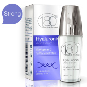 Hyaluronic Acid & Vitamin C Facial Serum by 180 Cosmetics - Concentrated & Pure Hyaluronic Acid for Immediate Results - Most Effective Anti Ageing Serum - For Wrinkles & Fine Lines - Clinical Strength