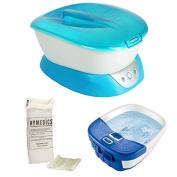 HoMedics ParaSpa Plus Paraffin Bath + Replacement Pearls + 20 Plastic Liners and Bubble Bliss Footbath