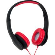 Onn Over-Ear Extra Bass Headphone, Black/Red