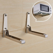 Stainless Steel Microwave Oven Adjustable Wall Mounted Bracket Shelf Holder