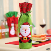 Christmas Decorations For Home Santa Claus Wine Bottle Cover Bag