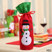 Christmas Decorations For Home Snowman Wine Bottle Cover Bag