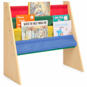 Best Choice Products Kids Bookshelf Toy Storage Rack w/ Fabric Sleeves