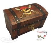 Pirate Chest Box Polish Handmade Wood Keepsake Jewellery Box