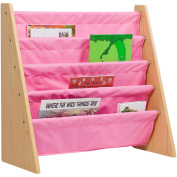 Levels of Discovery Sling Book Shelf, Natural with Pink