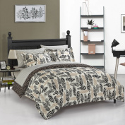 Your Zone Wild Fauna Metallic Feathers Bed in a Bag