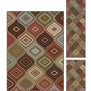 Bliss Rugs Cary Contemporary Area Rug Set, 3-Piece