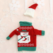Christmas Wine Bottle Cover Bag Christmas Dinner Party Snowman Table Decor New Year Supplies