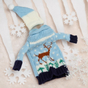 Christmas Wine Bottle Cover Bag Christmas Dinner Party Deer Table Decor New Year Supplies