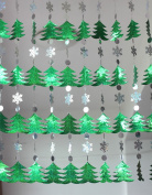 DIY Sequined Curtains Christmas Drop Ornaments Festive Decorations Supplies Christmas Tree Snowflakes Sequins