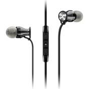 Sennheiser M2 IEi Momentum 5.1cm Ear Headphones for Apple - Black/Chrome