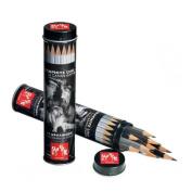Caran d'Ache pencil Graphite line 0775-315 Graph Wood Round Metal Box 15 pieces
