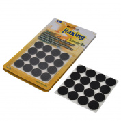 Unique Bargains Household Foam Round Furniture Protection Cushion Pad Mat Black 19mm Dia 48 Pcs