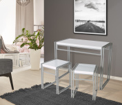 Mainstays Loft,Table Set includes a table and 2 matching stools, Dining Table Set