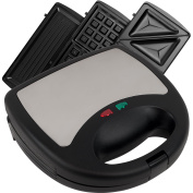 3 in 1 Sandwich Panini and Waffle Press by chef Buddy